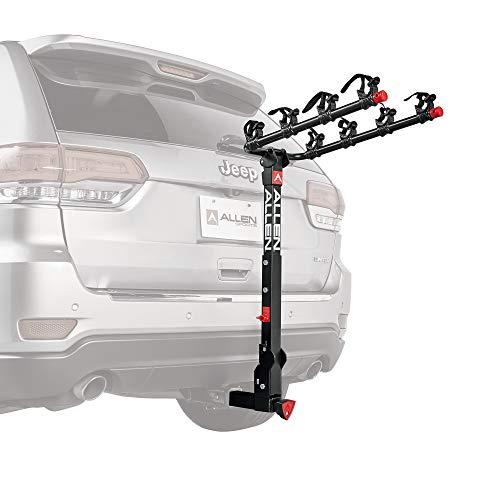 Allen Sports Deluxe+ Locking Quick Release 4-Bike Carrier for 2 in. Hitch, Model 840QR, Black