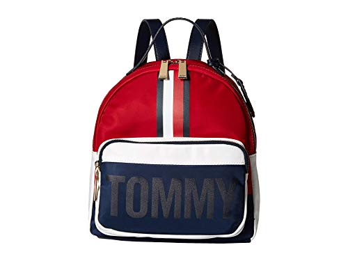 Tommy Hilfiger Women's Julia Dome Backpack Navy/Red/White One Size