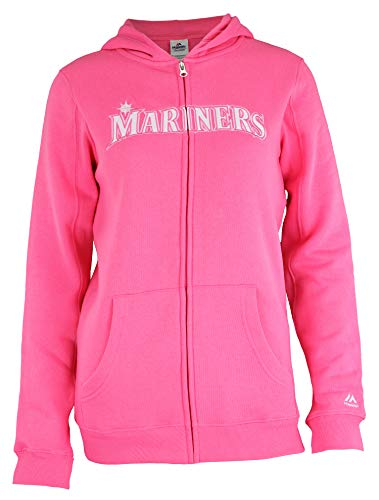 Outerstuff MLB Youth Girls (7-16) Seattle Mariners Pink Shutout Full Zip Hoodie (Small (7-8))