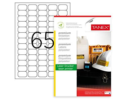 Etichette universali autoadesive 10 fogli A4 colore: Bianco TANEX TW-2402 210 x 143 mm 20 etichette stampabili