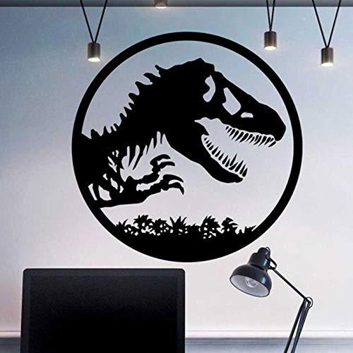 artaslf Etiqueta de la pared del dinosaurio Jurassic Park World Etiqueta de la ventana Vinilo Hogar Decoración del cuarto Habitación de los niños Calcomanía de regalo para niños Mural 57x57cm