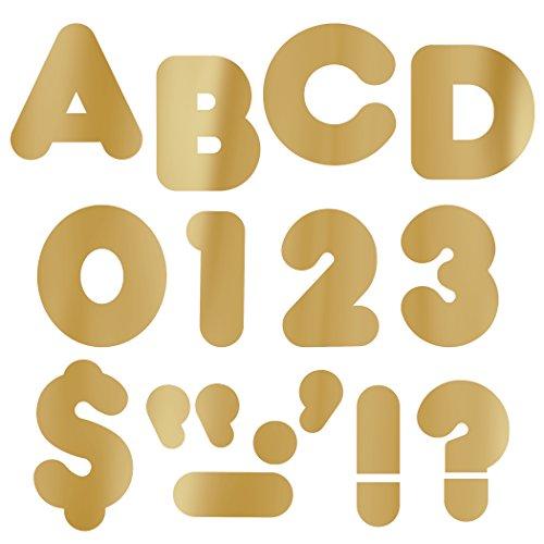 """TREND enterprises, Inc. Diecut Ready Letters, Metallic Gold 2"""" Casual Uppercase Font, 141 pcs."""