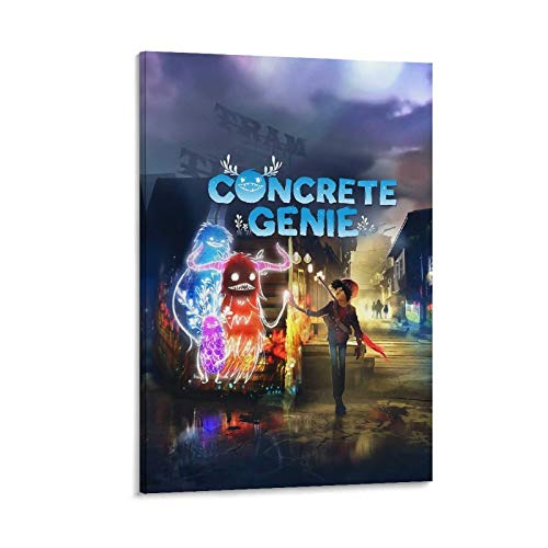 ZYHD Concrete Genie Game Poster Canvas Art Poster and Wall Art Picture Print Modern Family Bedroom Decor Posters 08x12inch(20x30cm)