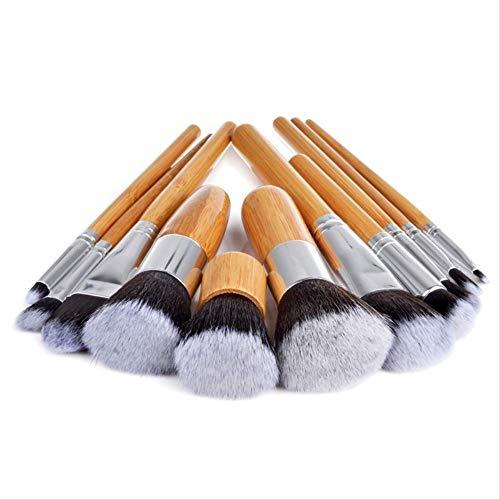Pinceaux Maquillages 11 Pinceau De Maquillage Pour Sac À Linge En Bambou 11 Pinceau De Maquillage Pour Manche En Bambou Beauté