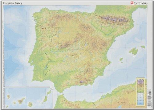 Mapa España Física, 50 unidades