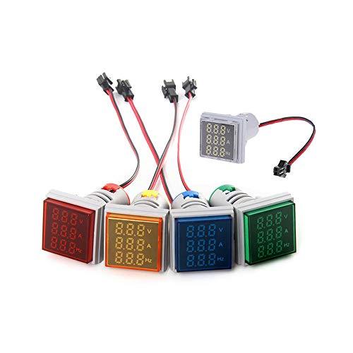 WFBD-CN Modulo elettronico 3 in 1 AC 60-500V 100A voltmetro Hz Hertz Misuratore di frequenza 22 Millimetri Spia Digital Corrente Tensione Amp del Segnale Chiaro LED Rosso con 3pcs CT