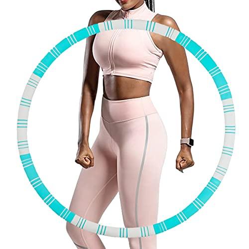 SKYUV Fitness Reifen, Hula Fitness Reifen für Erwachsene & Kinder zur Gewichtsabnahme, 8 Abnehmbar Hula Fitness Reifen für Fitness Training Büro Bauchmuskelkonturen