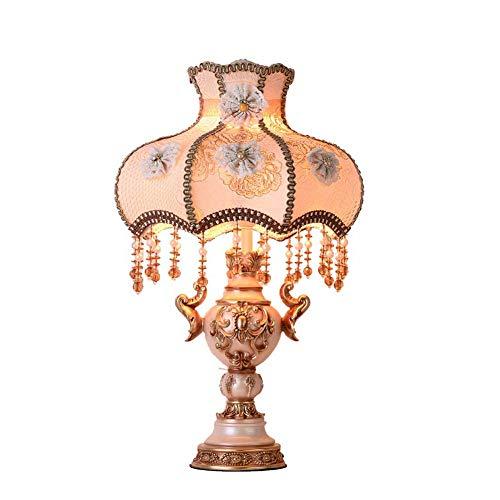 Dongbin Retro Tischlampe 220V Schlafzimmer Nachttischlampe handgefertigte Harz Tischlampe Wohnzimmer E27 Beleuchtung antike Dekoration Hochzeit Nachtlicht Arbeitszimmer,Dimmbar