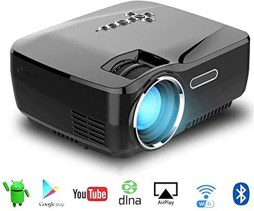 JiaDY Projektor Home Media Player HD Verbindung Projektor LED Projektor Android Projektor mit WIFI Bluetooth Unterstützung 4K * 2K Videoprojektor LED Home 138 Zoll Multimedia Player Unterstützung HDMI