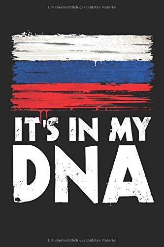 It's In My DNA: A5 Notizbuch Punkteraster Dotted Russland | Russia | Russen| Flagge|Fahne| Heimatland| Russe| Spruch | Geschenk | Lustig
