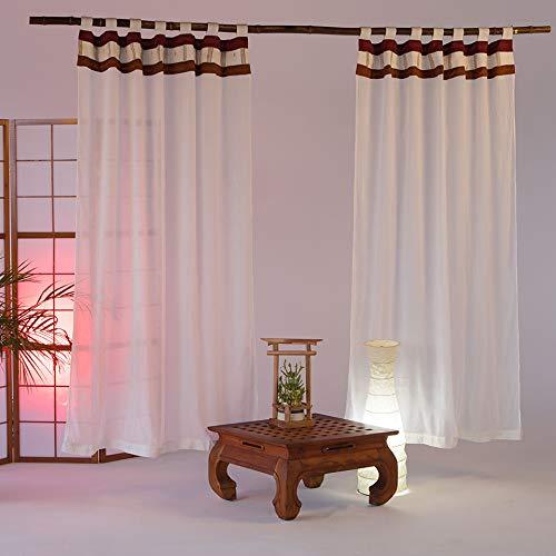 'Cortinas 'Bali Style Shang Rila–baldaquino–Cama con dosel–dosel de cama–cortinas–Cortinas Juego de 2