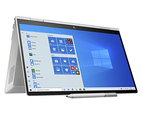 HP Envy x360 15-ed0007na 15.6 Inch Full HD Touch Screen Convertible Laptop with Stylus (Natural Silver) - (Intel Core i7-1065G7, Intel Iris Plus Graphics, 16 GB RAM, 512 GB SSD, Windows 10 Home)