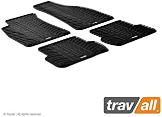 Travall Mats Compatible with Audi A4 Avant (2001-2008) A4 Sedan (2001-2007), S4 Sedan or Avant (2002-2008) TRM1124 - All-Weather Rubber Floor Liners