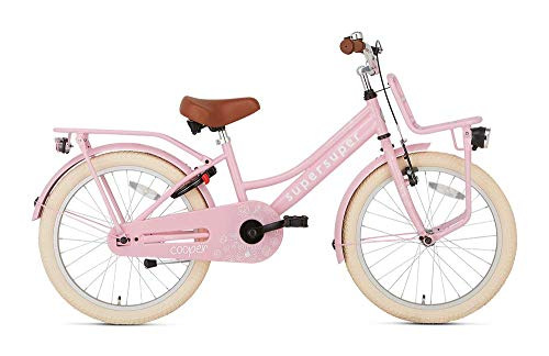 POPAL SuperSuper Cooper Kinder Fahrrad für Kinder | Mädchen Fahrrad 20 Zoll ab 6-8 Jahre| Kinderrad met Stützrädern | Rosa