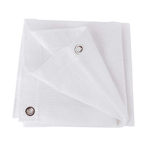 KELITE Blanc Net Ombrage, crème solaire maille légère Canopy Taud de blocage Oeillet Tissu en polyéthylène étanche Balcon Toit couverture Respirant et durable (Size : 4 * 4m)