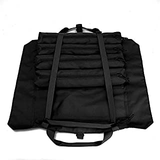 Wrench Roll Up Pouch Tools Organizer Bag Super Storage with 23 pockets (Black)