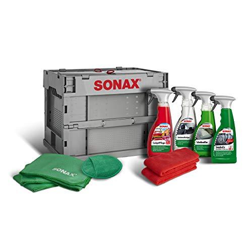 SONAX TruckerBox-Paket: Innenraumpflegebox (7-teilig) hochwertige Produkte + Zubehör für die Reinigung und Pflege im Innenraum. Ideal für unterwegs | Art-Nr. 07685410