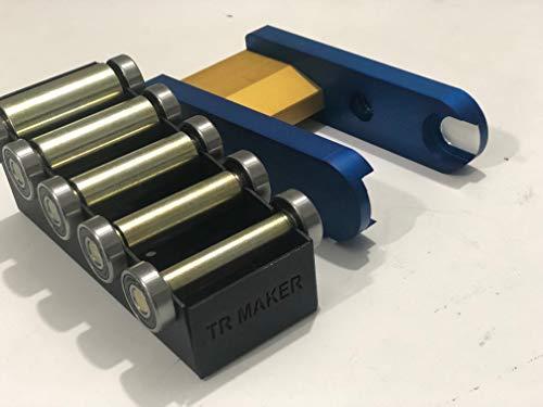 TR Maker Bandschleifer, 2 x 72 cm, klein, Rad-Set und Halter für Messer, Blau