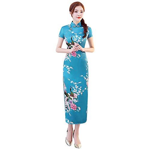 Xinvivion Vestido Chino de Cheongsam para Mujeres - Vestido Chino de la...