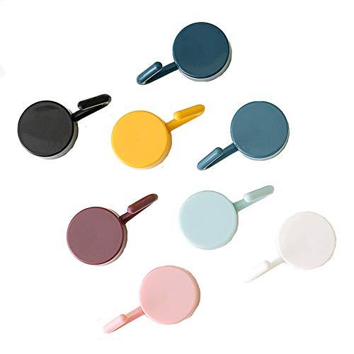 Ototon - 8 ganchos adhesivos de pared, multicolor