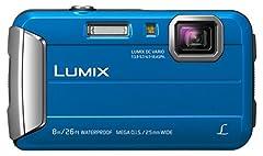 Panasonic LUMIX DMC-FT30EG-A Caméra extérieure (16,1 mégapixels, 4x opt. Zoom, écran LCD 2,6 pouces, 220 Mo de mémoire interne, étanche jusqu'à 8 m, USB, bleu)