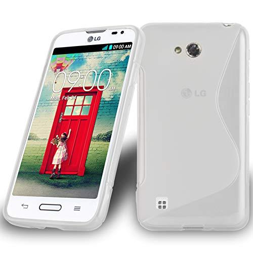 Preisvergleich Produktbild Cadorabo Hülle für LG L50 - Hülle in HALB TRANSPARENT Handyhülle aus flexiblem TPU Silikon im S-Line Design - Silikonhülle Schutzhülle Soft Back Cover Case Bumper