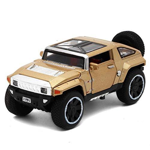 YaPin Model Car Hummer HX Concept Vehículo Todoterreno 1:32 Modelo de Coche Colección de decoración Todoterreno Simulación de aleación Modelo de Coche 1.5x6x5CM Modelo de Coche (Color : Gold)