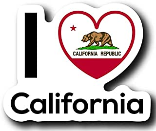 Love California State Decal Sticker Home Pride Travel Car Truck Van Bumper Window Laptop Cup Wall - One 5 Inch Decal - MKS0005