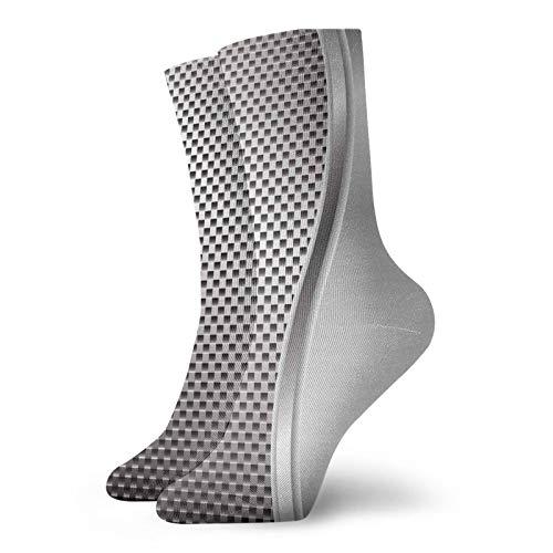 Calcetines altos de compresión con altavoz en forma cuadrada destacados calcetines de hierro industriales para mujeres y hombres, mejor para correr, senderismo, viajes