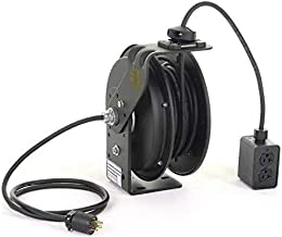 product image for Retractable Cord Reel,50 ft,Blk,120VAC