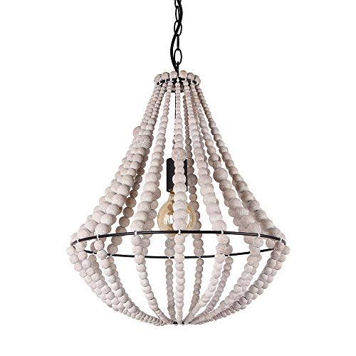 Giluta Conical Wood Bead Chandelier Retro Style Pendant...