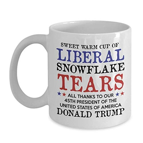 Trump Coffee Mug Trump Pence Keep America Great 2020 Republican Conservative Gift Mango rojo Taza de café de cerámica Taza de té, A1, CHINA