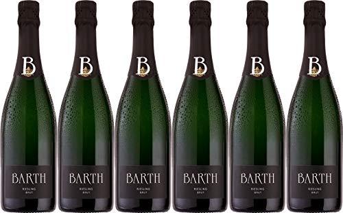 Barth Wein- und Sektgut Riesling Sekt Brut (herb) Bio (6 x 0.75 l)