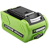 6.0Ah 40V 29472 Lithium Battery Replacement for GreenWorks 40V G-MAX Li-ion Battery 29472 29462...