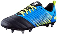 canterbury Men's Stampede 3.0 Soft Ground Rugby Shoe, Victoria Blue/Lime Punch/Black, 14 UK Medium from Canterbury