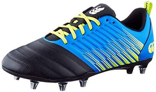 Canterbury Herren Stampede 3.0 Soft Ground Rugby-Schuhe, Victoria Blue/ Lime Punch/ Schwarz, 44.5 EU