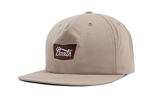BRIXTON Unisex Headwear Stith Snapback, Unisex, Stith Snapback, Caqui, Talla única