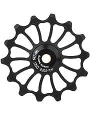 Polea guía, rueda guía de aleación de aluminio Yevenr, polea guía de bicicleta, polea de desviador de bicicleta, polea de desviador trasero para bicicleta(14T)