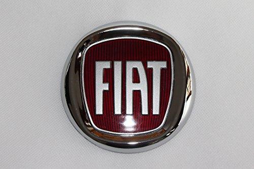Tapas de llantas con el logo del Fiat Bravo rojo. Diámetro