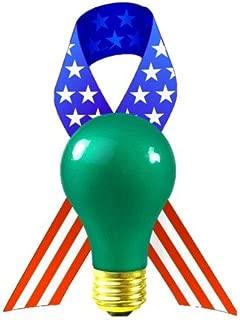 120V 60W Light Bulb - 2700K Bulb - Operation Greenlight - Honorary Military Light - Green Colored Light Bulb - A19 E26 Base - GoodBulb