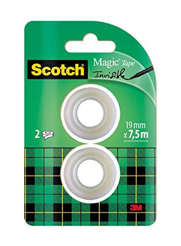 Scotch Magic - Cinta invisible en blíster (2 rollos)