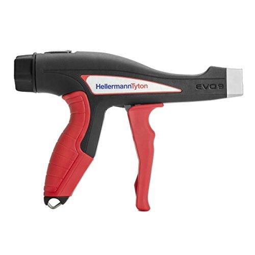 "Hellermann Tyton North America 110-80000 EVO 9 Mechanical Hand Tool, Standard Hand Span 90 mm, Metal, Evo9, 5.3"", Red"