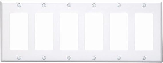 Leviton 80436 W 6 Gang Decora Gfci Device Decora Wallplate Standard Size Thermoset Device Mount White Switch Plates Amazon Canada