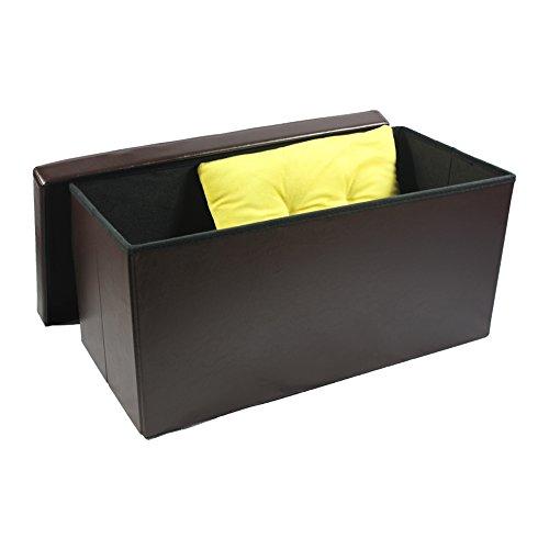 Achim Home Furnishings OTFL30BR02 Otomana Plegable de Almacenamiento, de Cuero sintético, Color marrón,…
