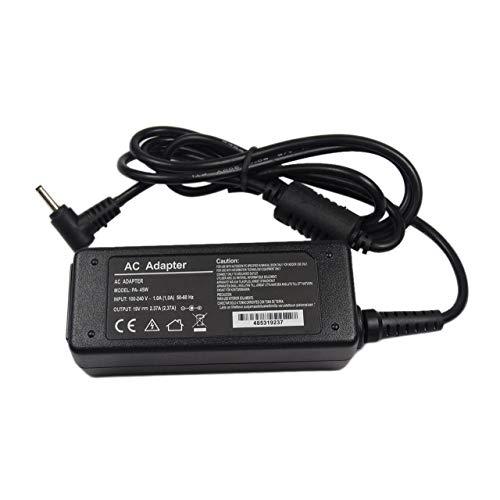 Monllack 19V 2.37A AC Universal-Ladegerät Netzteil-Adapter für Laptop Asus Zenbook UX21 UX21E UX3 鈥?UX31E Schwarz