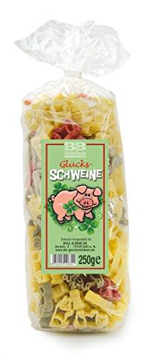 Bunte Glücksschweinchen-Nudeln Pasta Piggy (250 g) aus deutscher Manufaktur