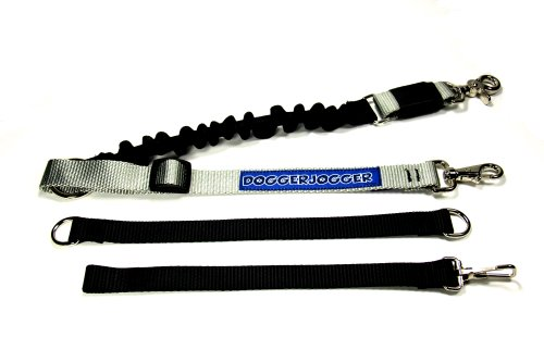 DoggerJogger Bike Dog Leash Silver