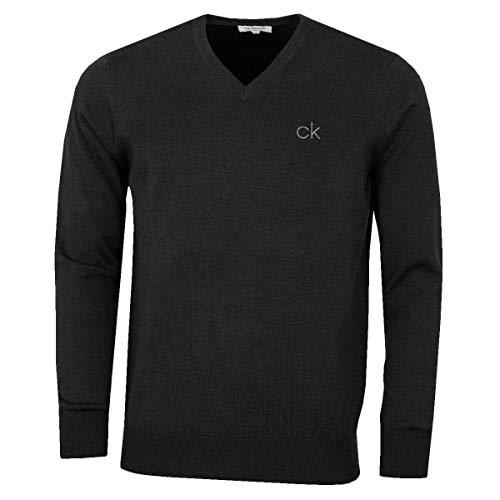 Calvin Klein Golf Herren V-Ausschnitt-Tour Sweater - Charcoal Marl - M