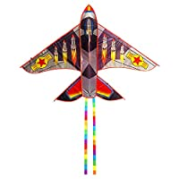 Lixada 凧 カイト 飛行機 おもちゃ 30M凧糸付き 軽量 耐久性 簡単に揚げられる 持ち運び便利 子供 初心者