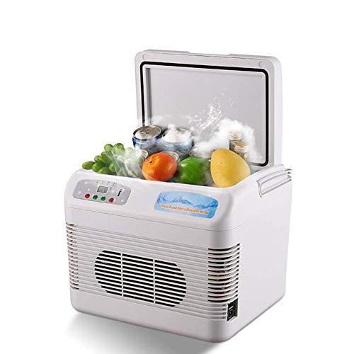 NLRHH 12L Congelador Refrigeradores de automóviles, Refrigerador de 18 Grados Frigorífico de Doble Uso Dormitorio Dormitorio Congele Mini refrigerador-Blanco 35x17.5x20cm (14x7x8inch) Peng